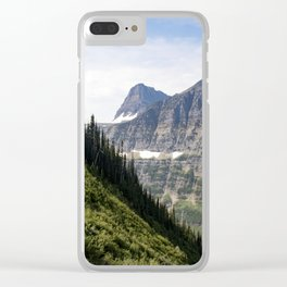 Glacier Mountains Clear iPhone Case