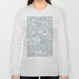 Abstract Floral Pattern Long Sleeve T-shirt