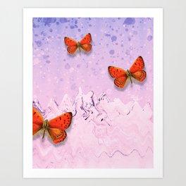 Trippy Butterflies Art Print