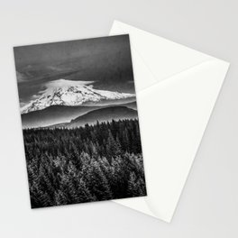 Mt Hood Black and White Mountain Stationery Cards