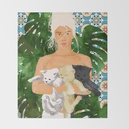 Morocco Vacay #illustration #painting Throw Blanket