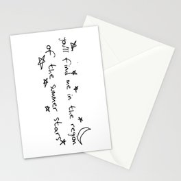you'll find me in the region of the summer stars (harry) Stationery Cards