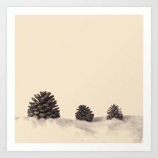 Three Pinecones  Art Print