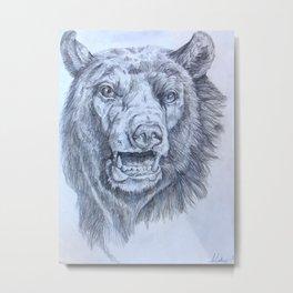 Don't Feed the Bears Metal Print