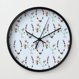 Clover & Lavender Wall Clock