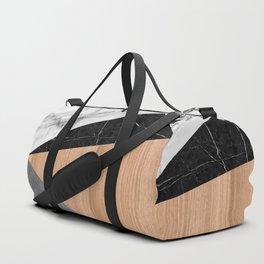 Marble, Garnite, Teak Wood Abstract Duffle Bag