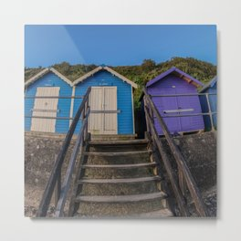 Colourful beach huts in the seaside town of Cromer Metal Print