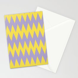 Zigzag Line Pattern Color of the Year 2021 Illuminating 13-0647 Yellow and Lavender 15-3817 Purple Stationery Cards