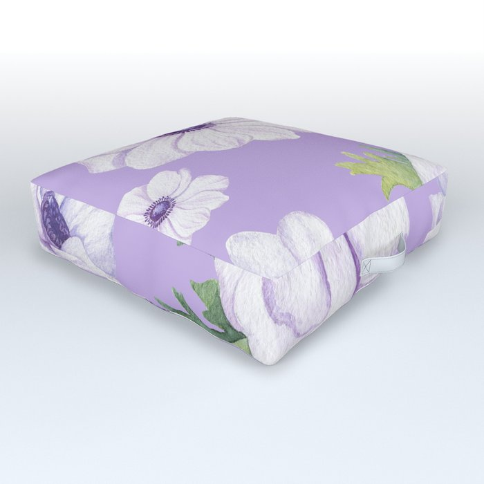 Anemones Lilac #society6 #buyart Outdoor Floor Cushion