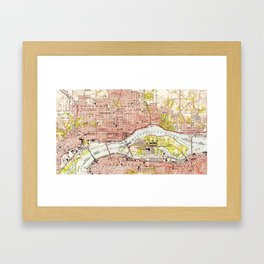 Vintage Map of Davenport Iowa (1953) Framed Art Print