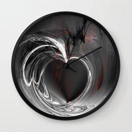 Heart black Wall Clock
