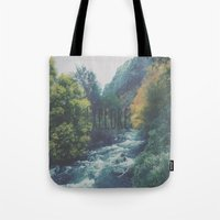 explore Tote Bags featuring Explore by Hannah Kemp