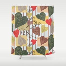 Hearts on Vines Shower Curtain