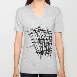 Sketch Black and White Unisex V-Neck