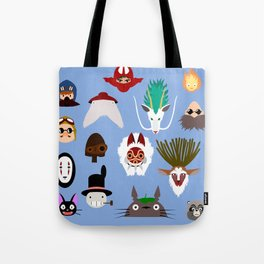 The many faces of Ghibli Tote Bag