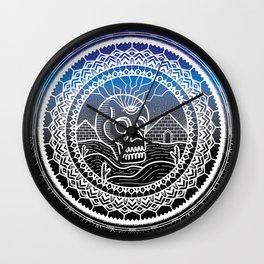 Mandala Portal 01 - Nightime Wall Clock