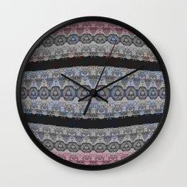 Illuminati Goth Lace Print Wall Clock