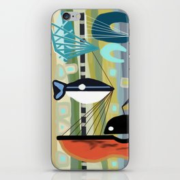 Mid Century Modern Fish Art iPhone Skin