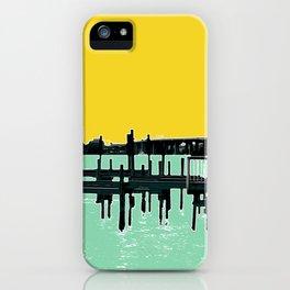 Jacksonville, Florida - modern bold photography print - Pier, dock, & skyline - St. John's river iPhone Case