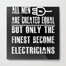 Becine Electrician Metal Print
