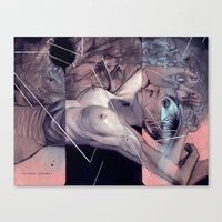 "eugenia loli Canvas Prints featuring Loli study #2 ""Relinquish"" by -Orlando Sanchez Art-"