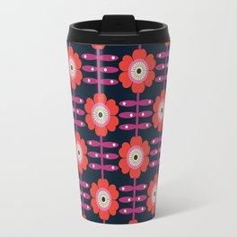 Shick - floral retro vintage flowers 70s style 1970's pop florals Travel Mug