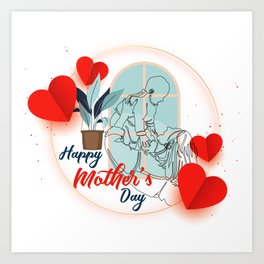 Happy mother's day print mothers day cards happy mothers day card mother day wishes mothers day gift Art Print