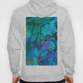 Multicolored marble ii Hoody