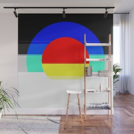 Colorful Mod Abstract Wall Mural