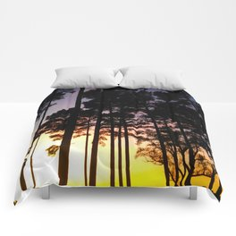 Sunset Silhouette Comforters