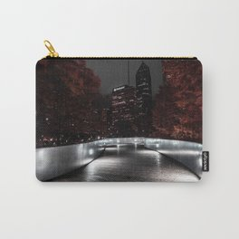 A selective color Image of Chicago's BP Bridge one crisp fall night Carry-All Pouch