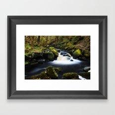 Fall on Burbage Brook Framed Art Print