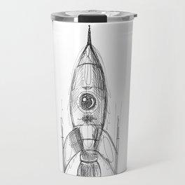 retro rocket Travel Mug