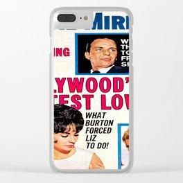 Vintage Movie Mirror Magazine 1963 Clear iPhone Case