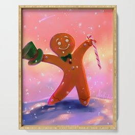 Gingerbread Man Serving Tray