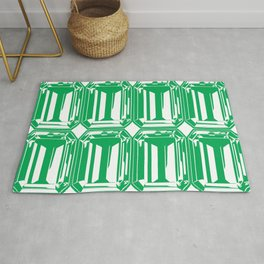 Channel Set Green Emeralds Rug