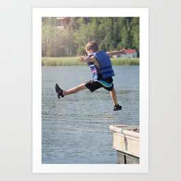 Harry Leaps! Art Print