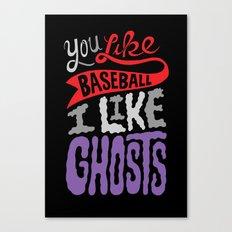 Baseball, Ghosts Canvas Print