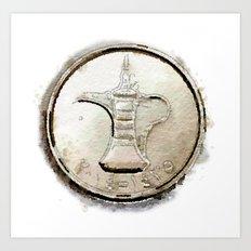 Coin Art Print