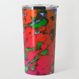 Shattering red tigers Travel Mug