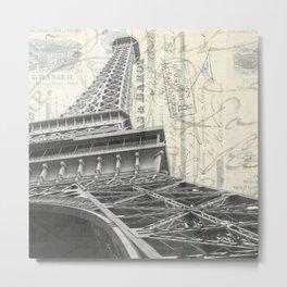 Eiffel Tower Square Metal Print