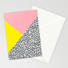 Memphis pattern 28 Stationery Cards