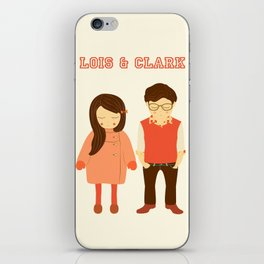 Lois and Clark - Superman The Younger Years - Comic Superhero Illustration Print iPhone Skin
