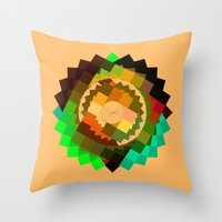 vertigo Throw Pillows featuring Vertigo by eff.