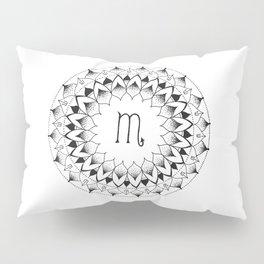 Scorpio Zodiac Mandala Pillow Sham