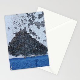 Blue and White Crumbling Stationery Cards
