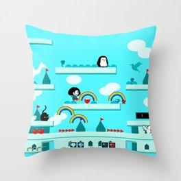 Rainbow Island Throw Pillow