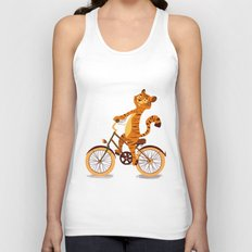 Tiger on the bike Unisex Tank Top