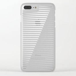 Black vs. White Clear iPhone Case