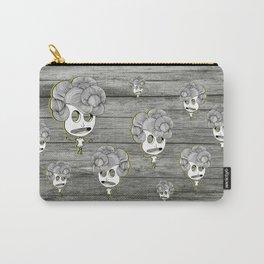 headache wood girl Carry-All Pouch